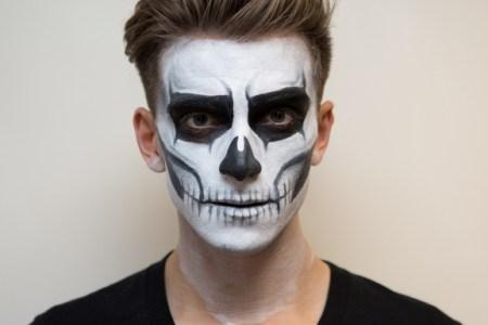 Skeleton Makeup For Guys Cartooncreative