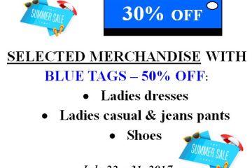 Summer Sale Blue Tags
