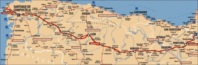 Camino route map