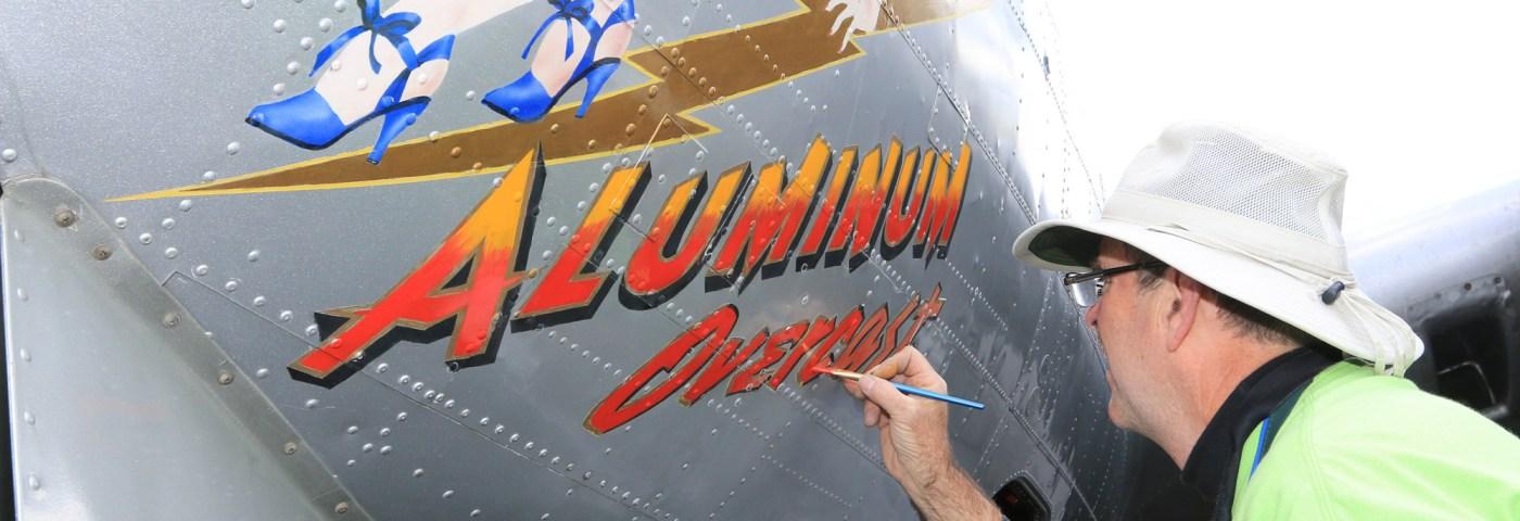 Artist John Stahr Restores Nose Art on EAA's B-17