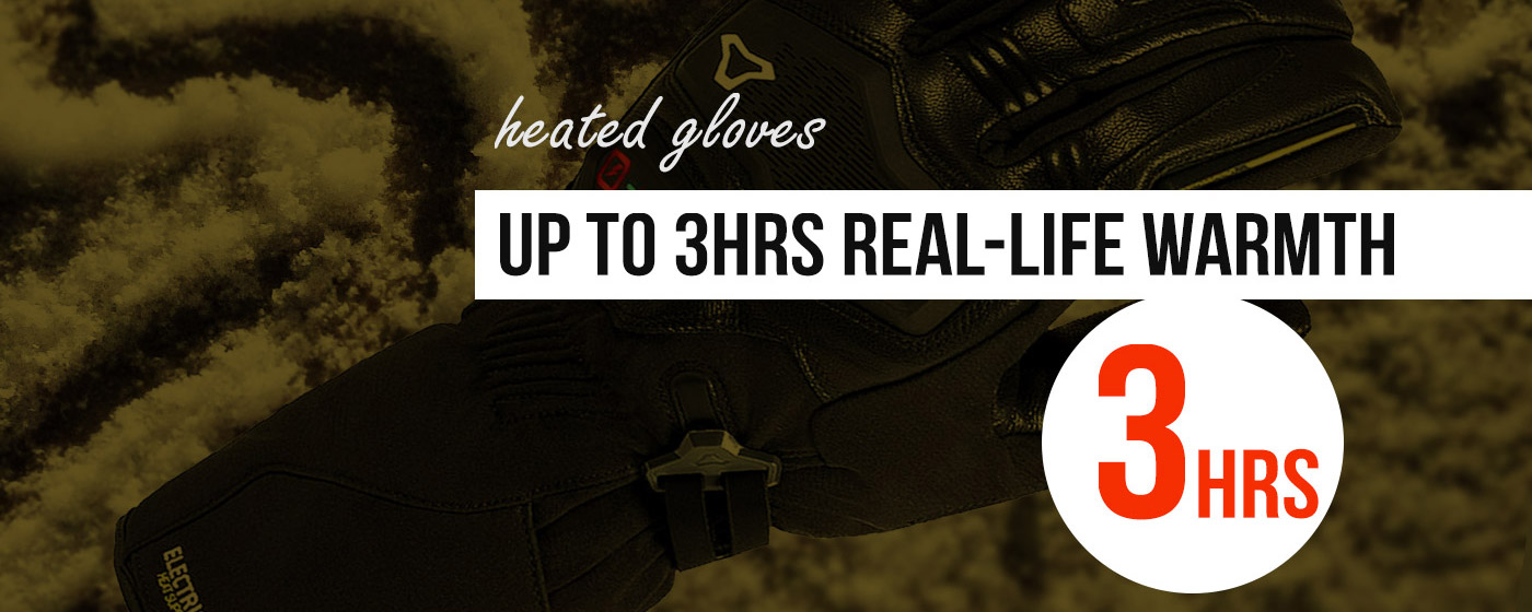 Best Heated Motorcycle Gloves up to 3hrs of warmth