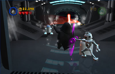 Lego Star Wars: Darth Sidious vs General Grevious bodyguard with R2D2 in background