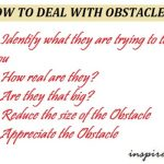 how to deal with obstacles?