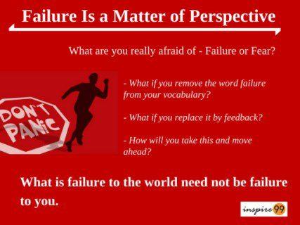 perception of failure, failure meaning