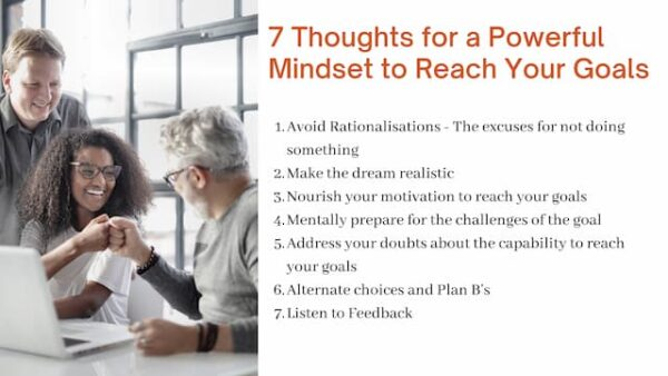 Top 7 Tips for a Powerful Mindset to Reach Your Goals