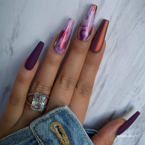Beautiful Bold Ballerina Nails