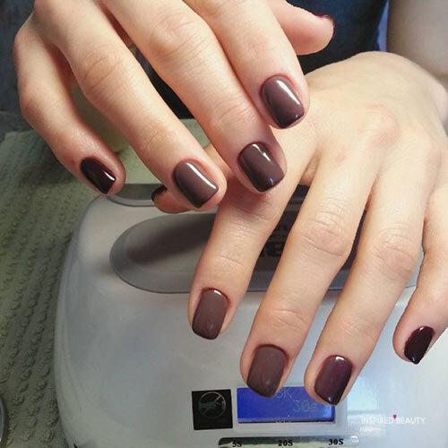Light Chocolate Short Nail Designs