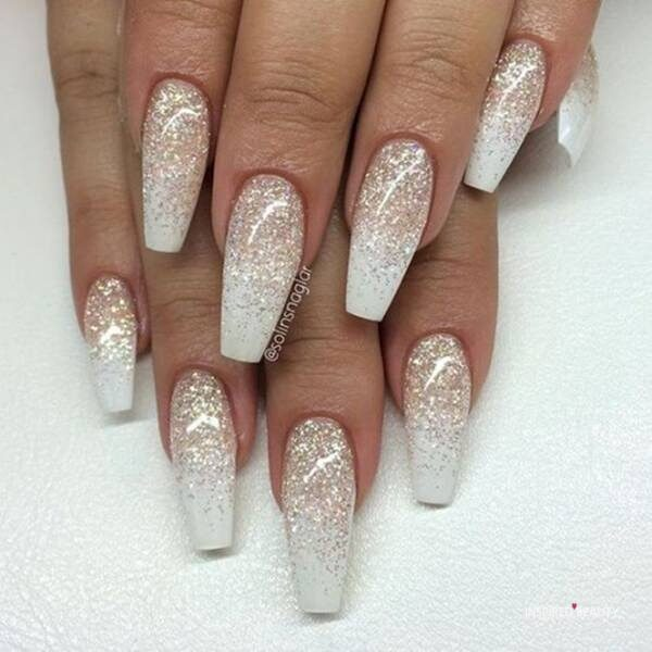 coffin nails with glitter