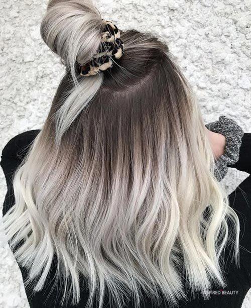Medium Balayage Hair Blonde
