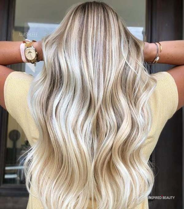Blonde Balayage fall hair color