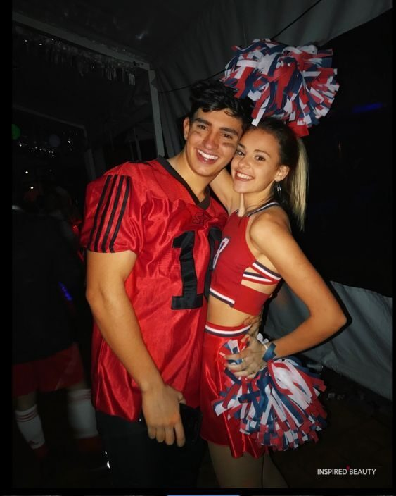 football player and cheerleader halloween costumes