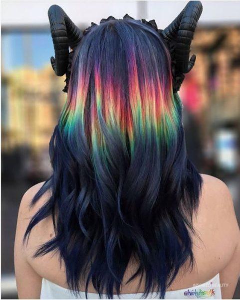 Dark Pastel hair
