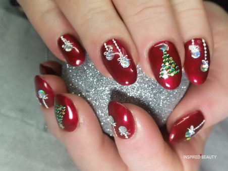 27 easy stylish festive christmas nails gel to copy this