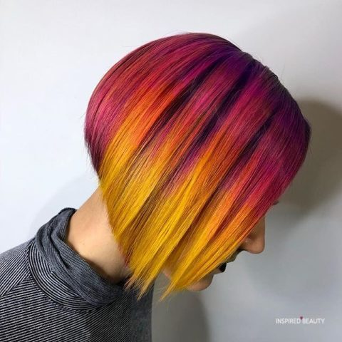 Sunset blend bob hairstyles