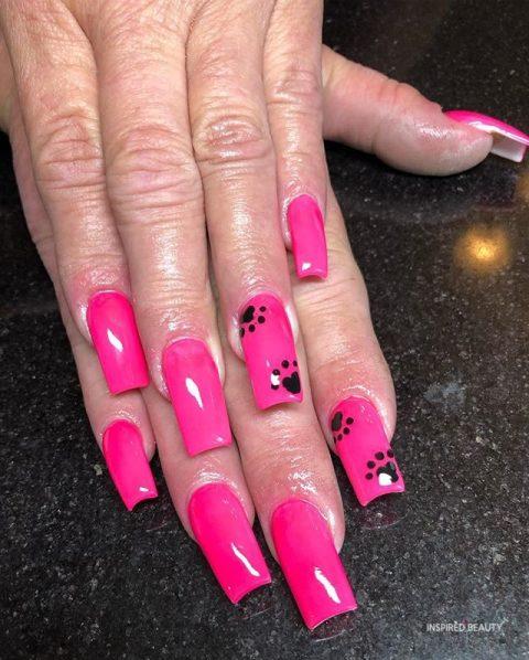hot pink nail