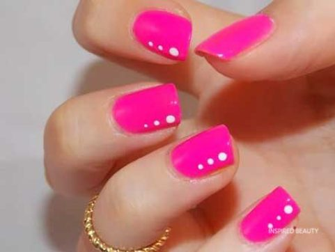 Hot Pink Gel Nails