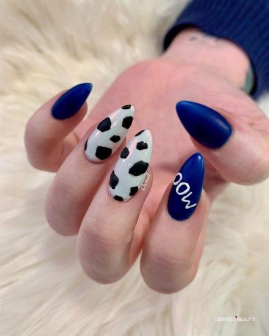 cow print nails