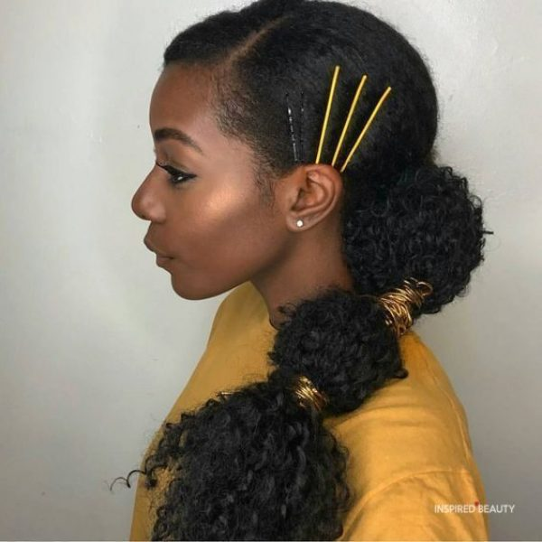 Easy ponytail hairstyles for black hair