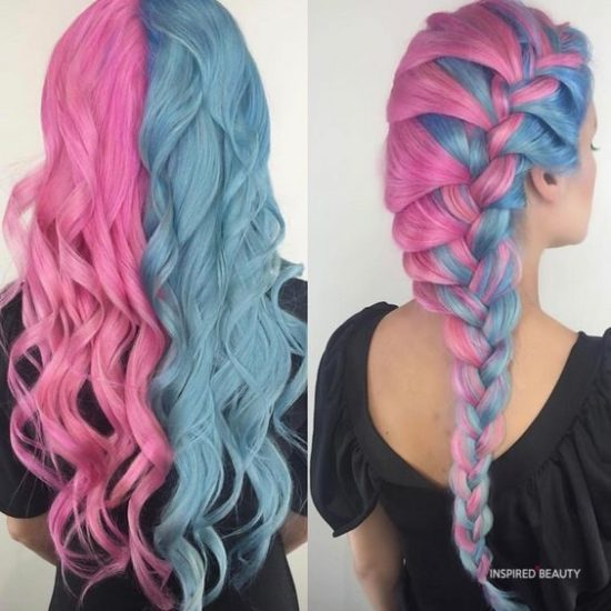 wow pink and blue hairstyle