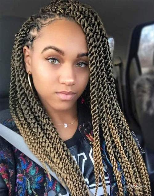 kinky twist hairstyles long