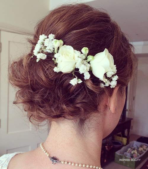 Short hair style for wedding