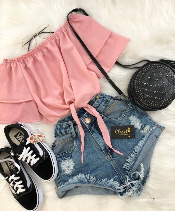 Cute Jean Shorts outfit ideas
