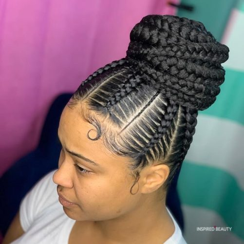 black braids updo hairstyles