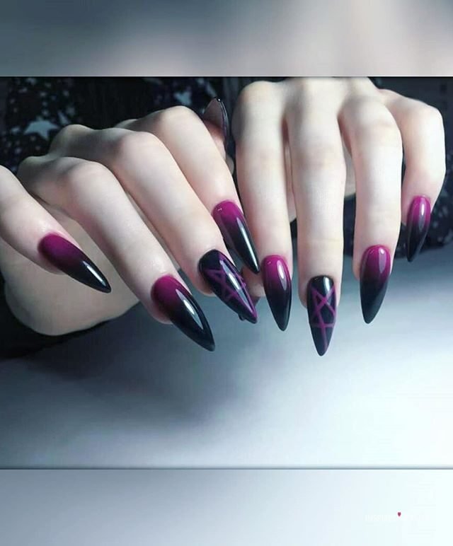 halloween nails acrylic