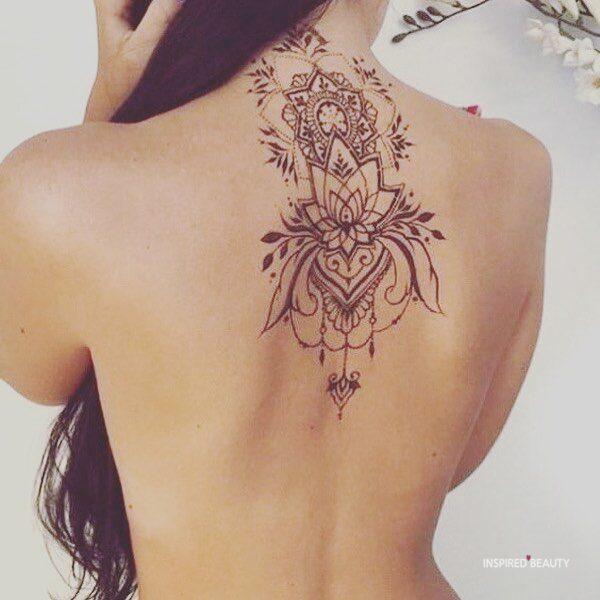 upper back tattoos for females