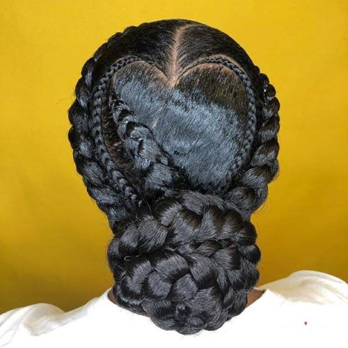 braided hairstyles for black women updo