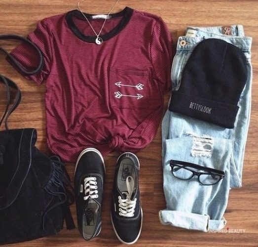 Cute Casual Back To School Outfits for highschool Girls