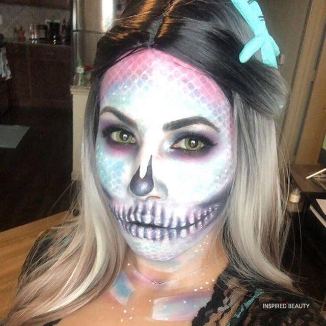 Glitter Halloween Skull