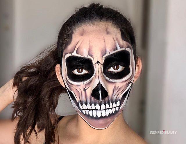 Scary Halloween Makeup skull