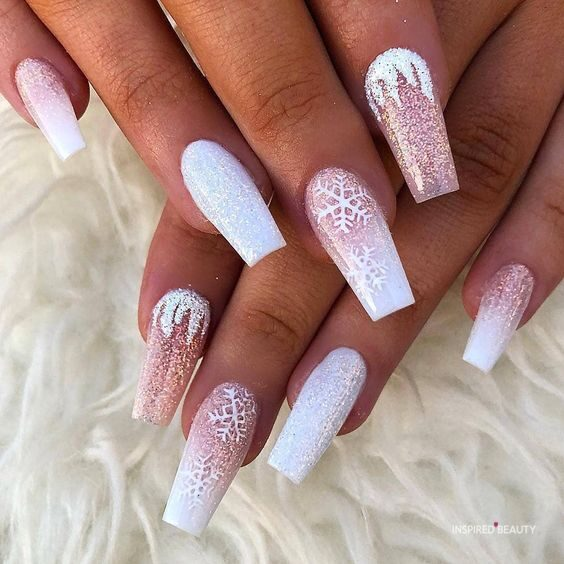 sparkly coffin nails