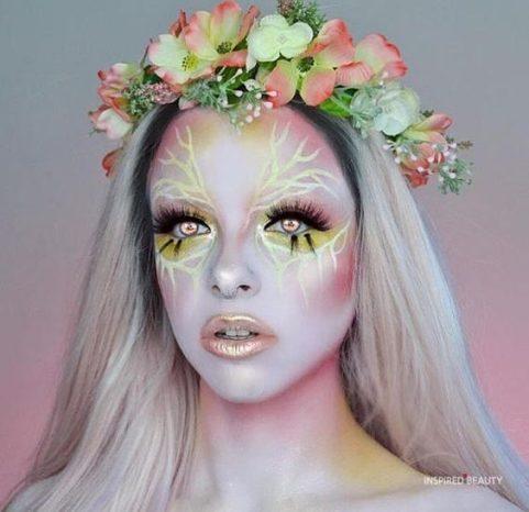 makeup ideas , fantasy Halloween makeup