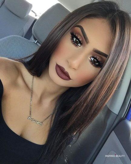 fall makeup look for brown eyes