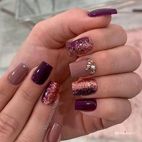 Royal Purple and Glitter Design