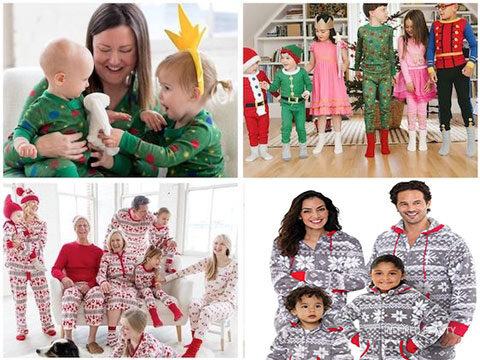 festive family pajamas