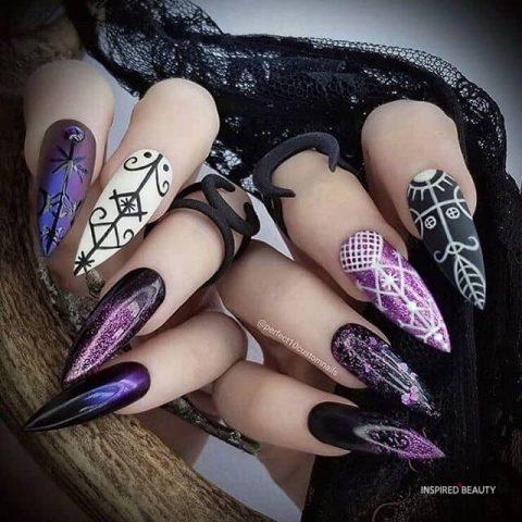 Color mixing Nail Design