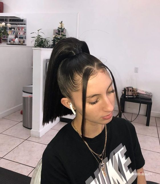 high ponytail hairstyles for black women