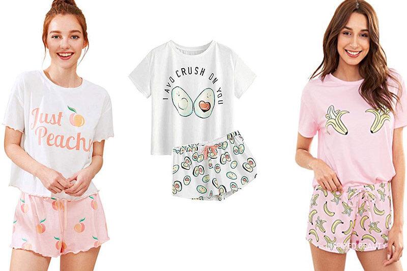 Ladies Super Cute Pink /& White Stripe Unicorn Sleepy T-Shirt Nightwear