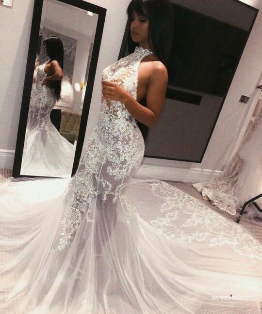 Mermaid Shape wedding dress