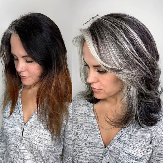 Growing Out Grey Hair Transition Tips Inspired Beauty
