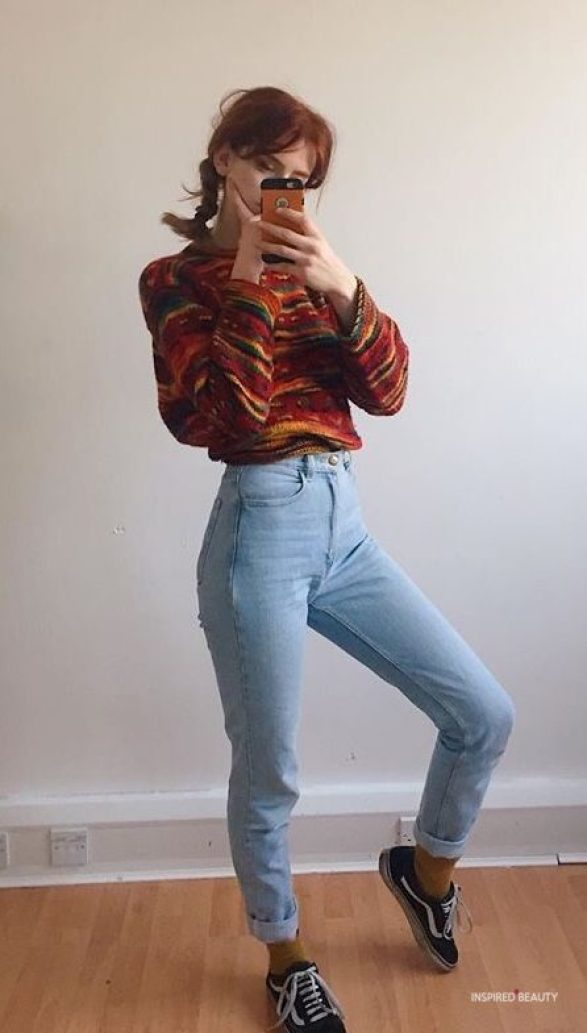 Vintage outfit - jeans and sweater