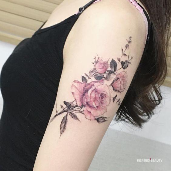 arm rose tattoo designs