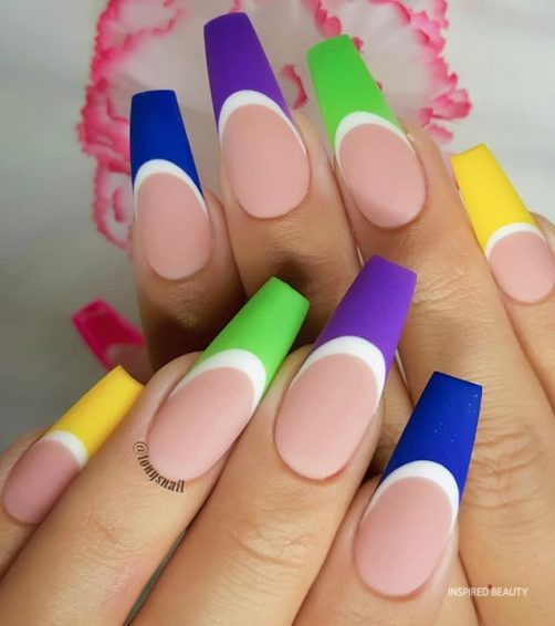 French Tip, cute summer nails