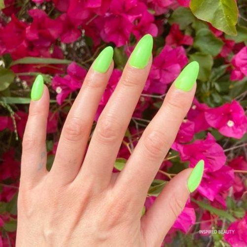bright summer nails long