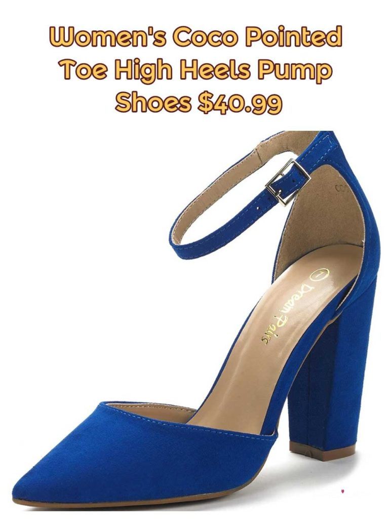 Women's Coco Pointed Toe High Heels Pump Shoes