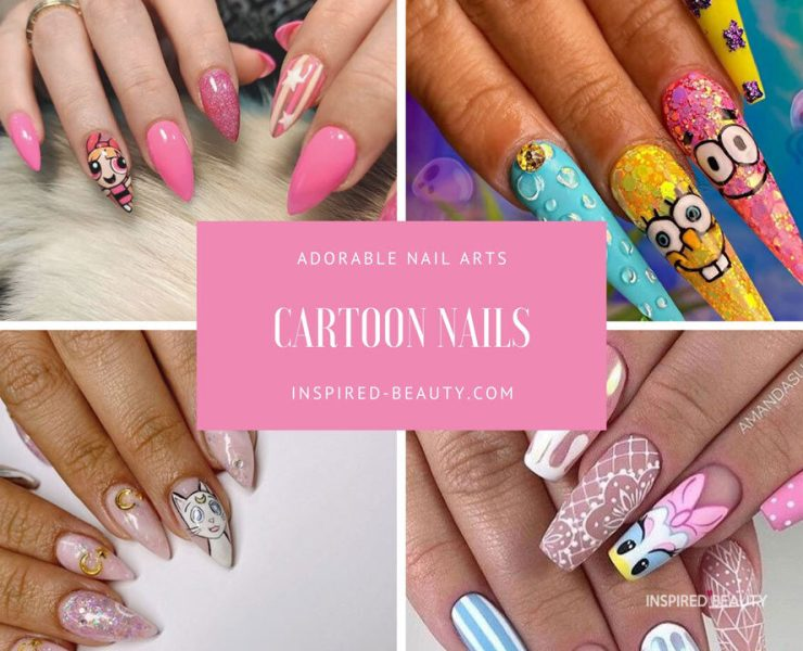 cartoon nail arts