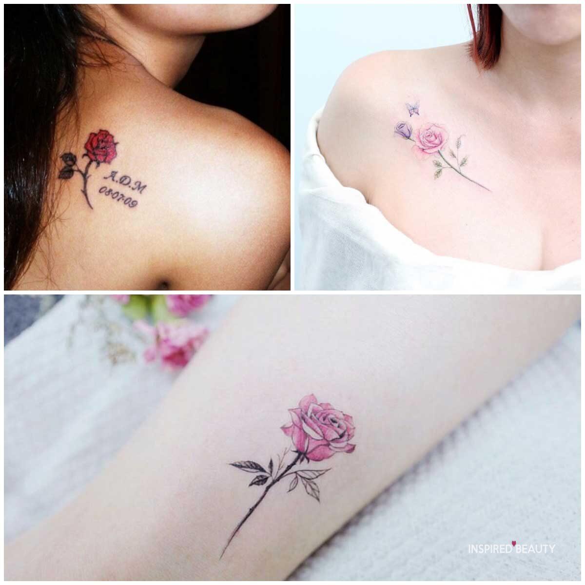 Cute Rose Tattoo Design
